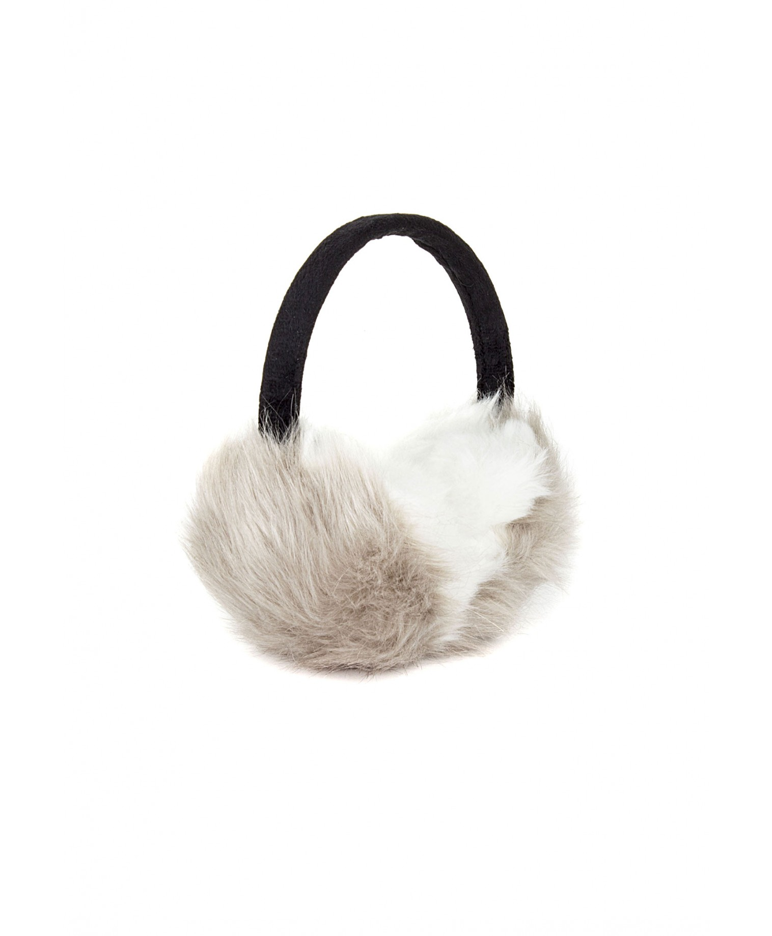 Eufemia faux fur ear muffs in grey 2