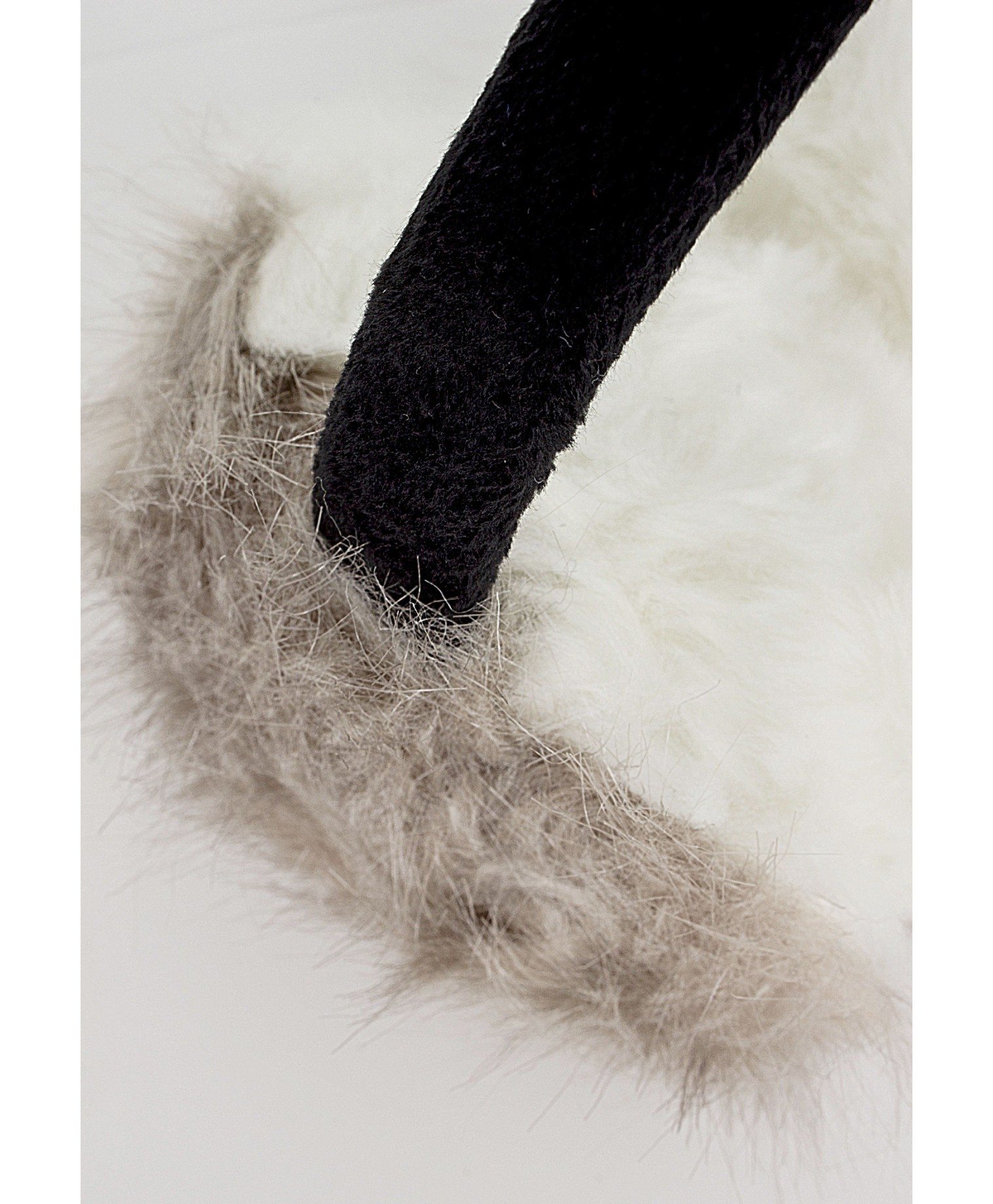 Eufemia faux fur ear muffs in grey 3