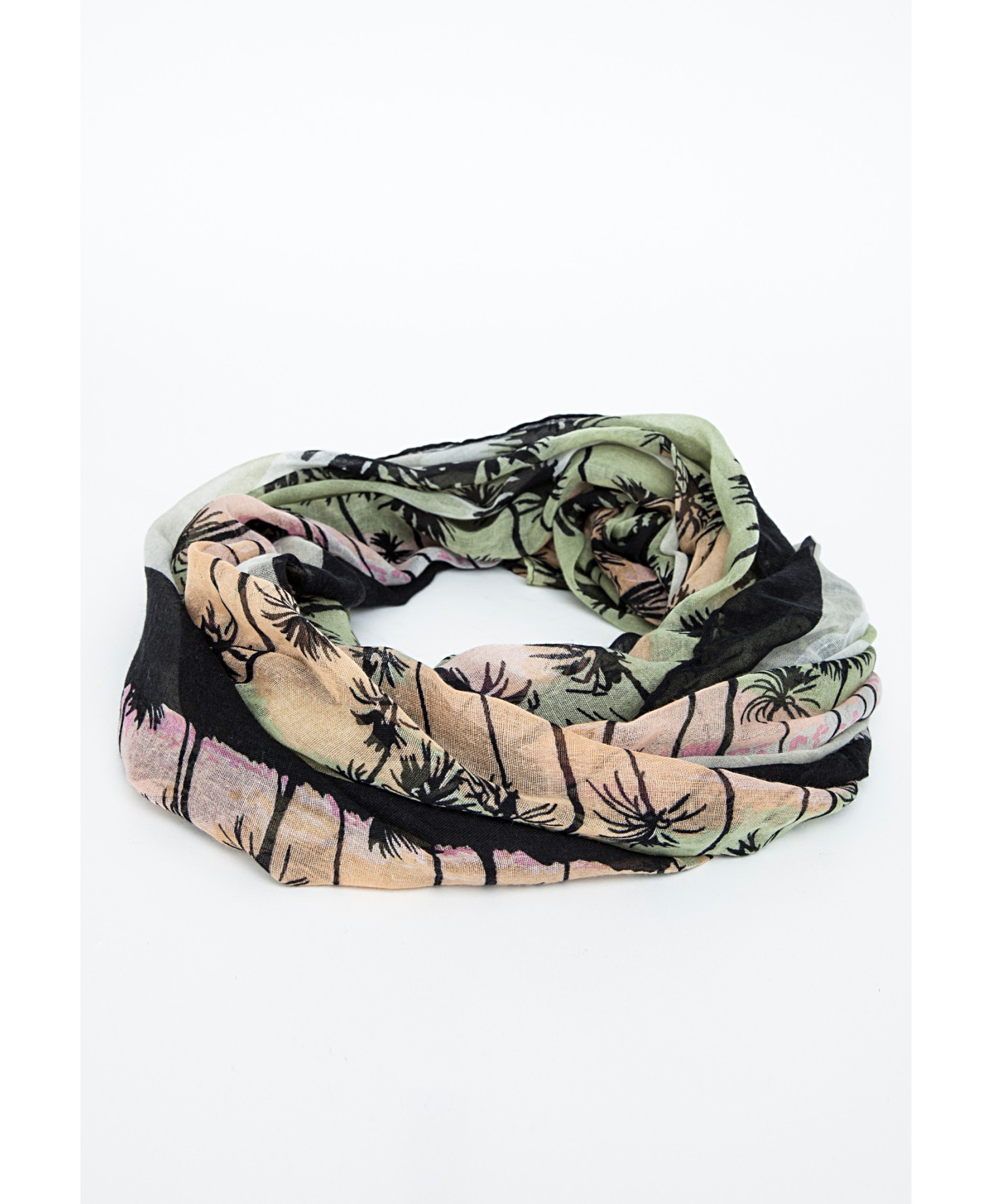 Ulca scarf in palm tree print 2