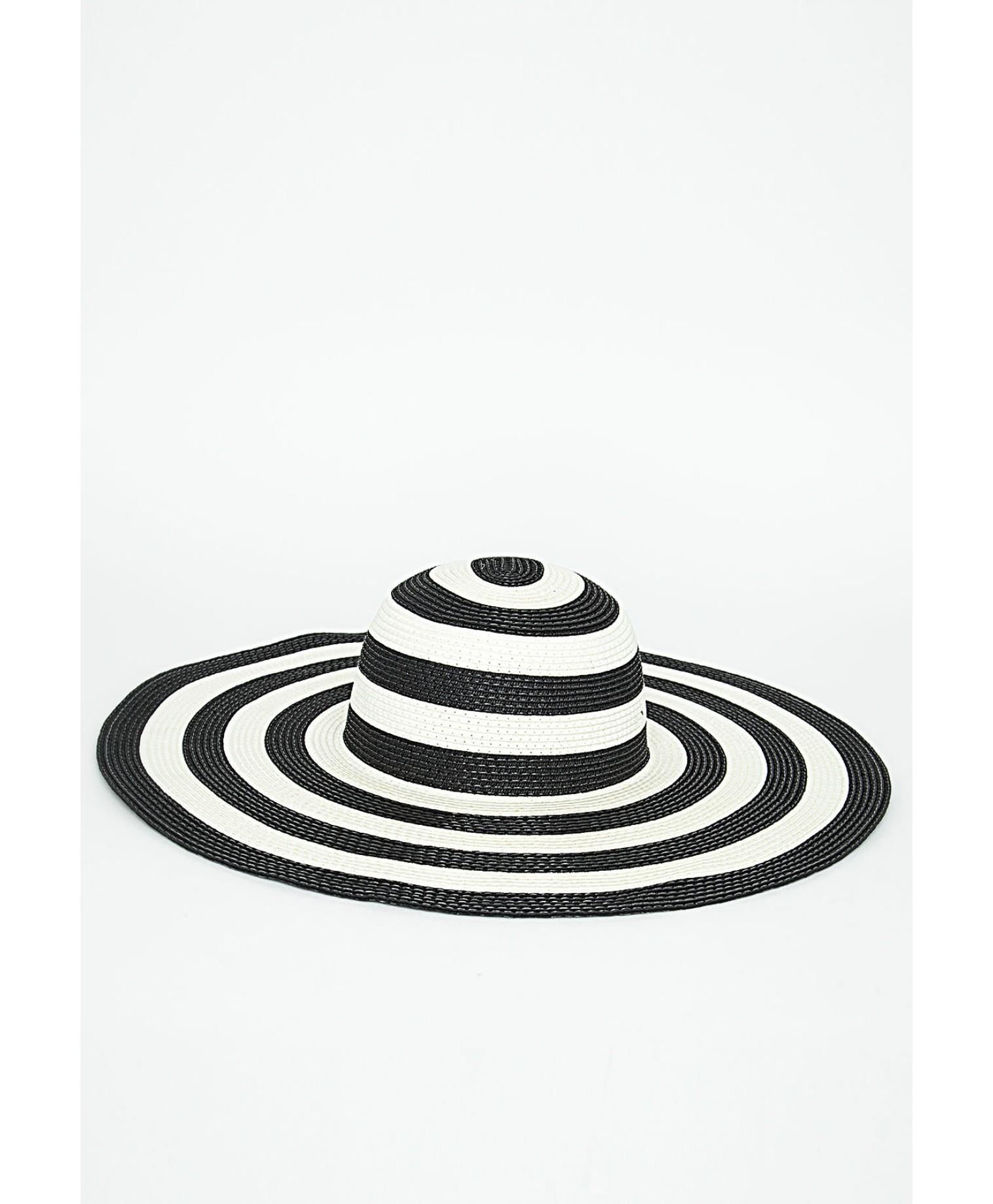 Maple striped floppy hat 2