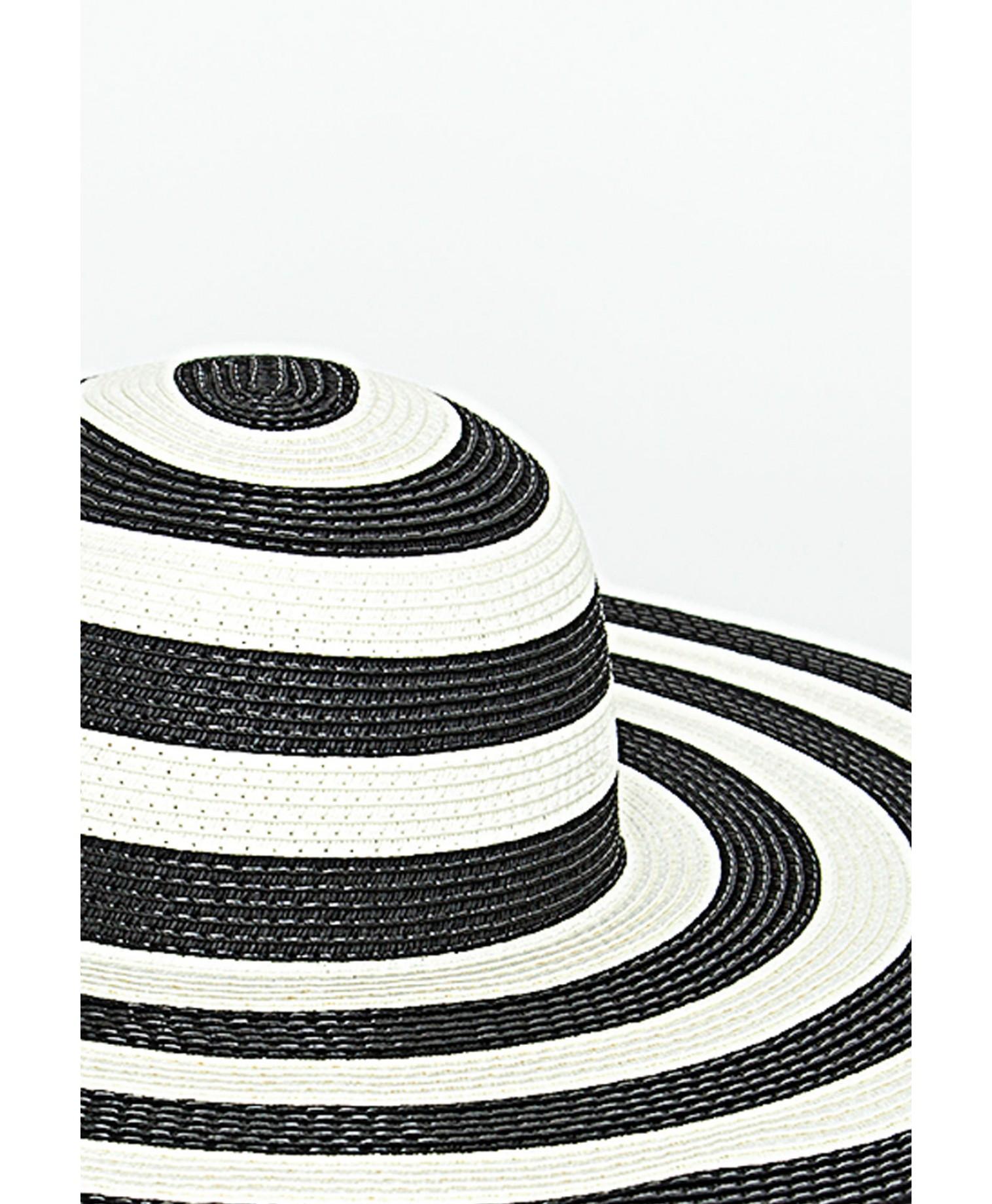 Maple striped floppy hat 3