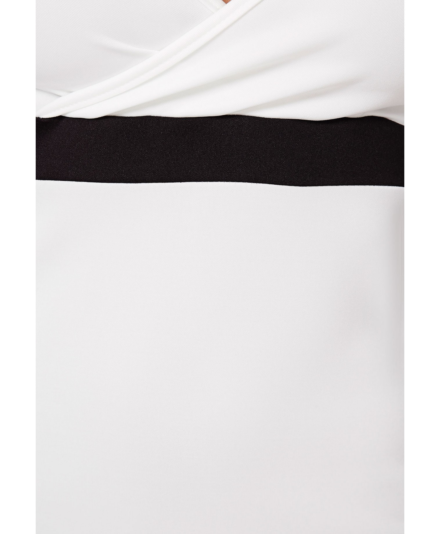 Verda wrap over monochrome contrast midi dress 6