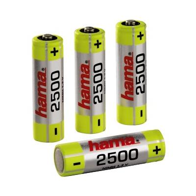 Rechargeable NiMH Batteries 4x AA (Mignon - HR 6)